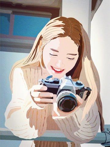 おはよう、おはよう、おはよう旅行写真日記 イラスト素材