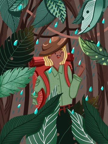 dia internacional da deficiência braço quebrado boy goes forest adventure sozinho Material de ilustração Imagens de ilustração