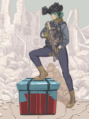 Jedi survival girl ruins, Jedi Survival, Great Luck, Eat Chicken Tonight illustration image
