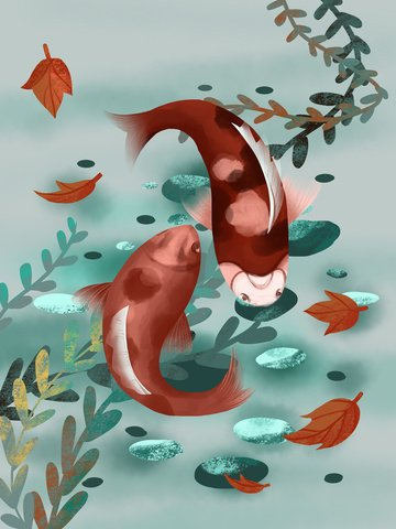 the next koi is your realistic skin texture squid chinese painting style illustration illustration image