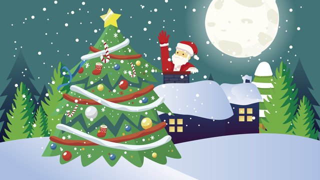 عيد الميلاد سانتا كلوز مدخنة الهدايا مواد الصور المدرجة