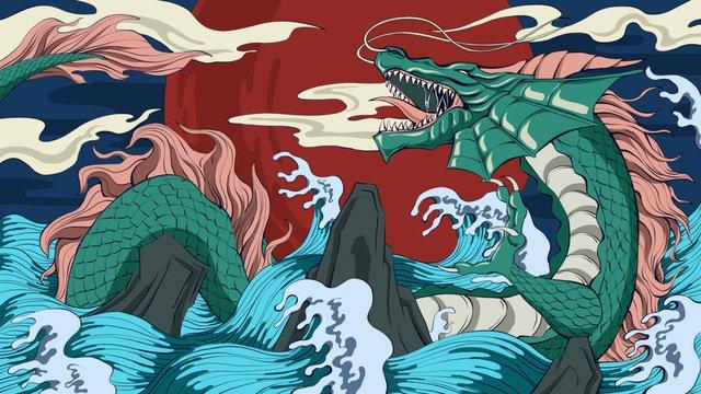 カオスの起源はドラゴンです イラスト素材