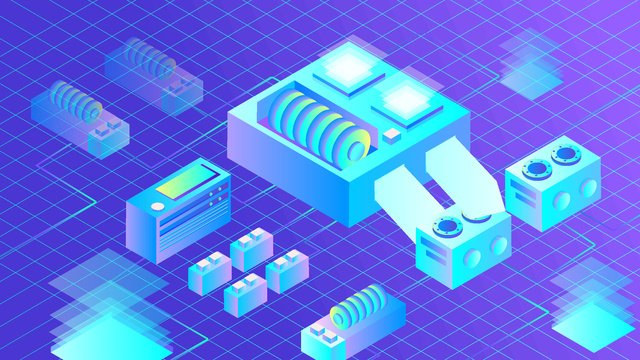 Artificial intelligence virtual 2.5d scene, Original, Business Illustration, Wallpaper Poster illustration image