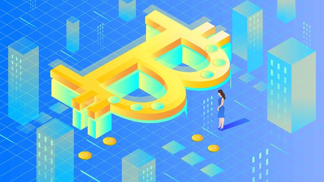 financial bitcoin center 2 5d Immagine dell'illustrazione immagine dell'illustrazione