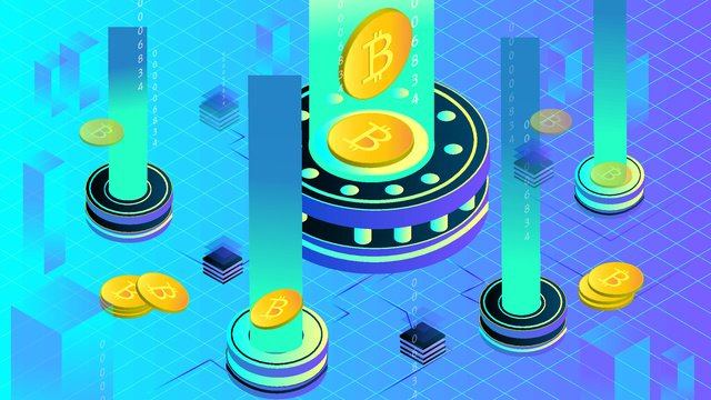 금융 bitcoin 2 5d 삽화 소재 삽화 이미지