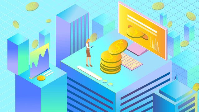 moeda virtual cidade 2 5d Material de ilustração Imagens de ilustração