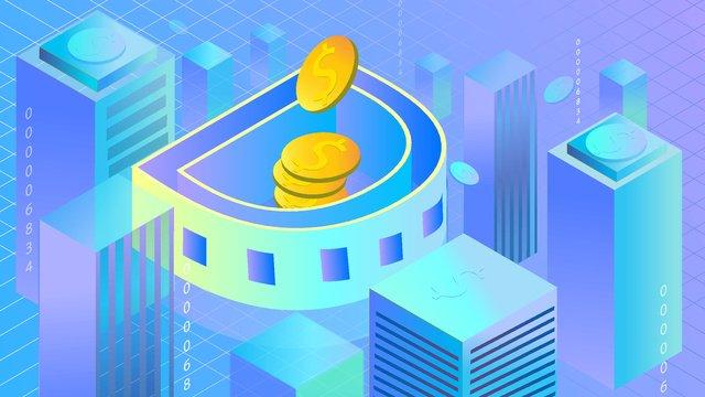 letra da cidade d moeda virtual Material de ilustração