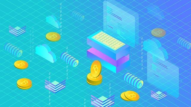 tom azul moeda virtual 2 5d Material de ilustração