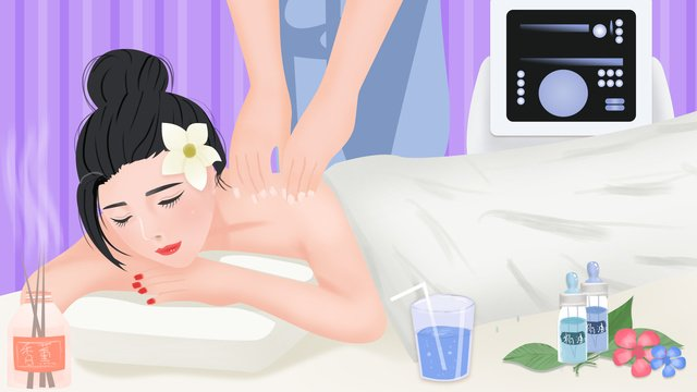 original hand painted illustration beauty skin care in the salon to do essential oil spa llustration image illustration image