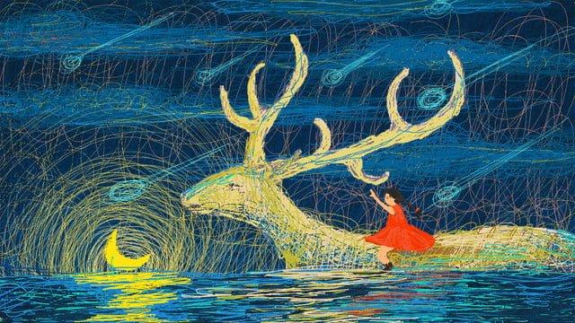 healing the dream coil manuscript under moonlight llustration image