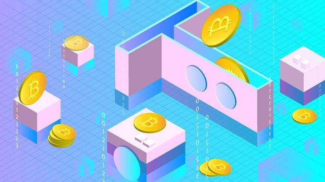 t box de bitcoin para moeda virtual Material de ilustração