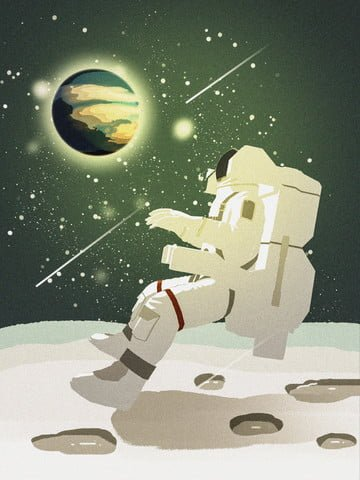 planet exploration space astronaut starry sky texture illustration llustration image