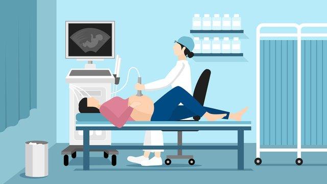 गर्भवती महिला का चिकित्सीय दृश्य फ्लैट चित्रण चित्रण छवि चित्रण छवि
