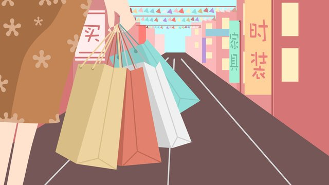 쇼핑 현장 원본 그림 삽화 소재 삽화 이미지