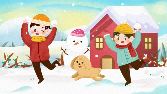 snowball winter cold current new year snowman december season solar terms llustration image