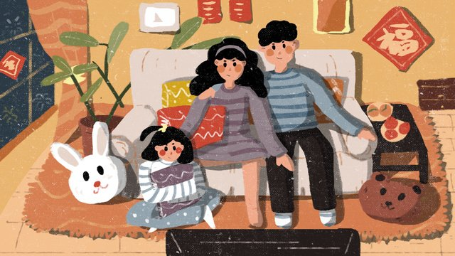 chinese new year spring festival evening llustration image