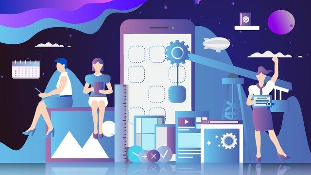 Technology future cartoon vector illustration, Technology, Cartoon, Vector illustration image