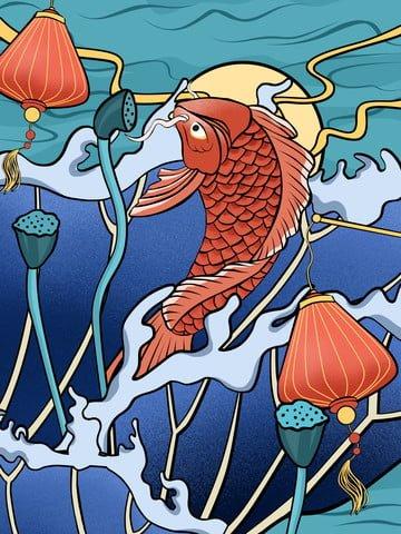 original texture realistic illustration the next koi is you llustration image illustration image