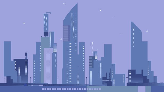 silhouette city series night vector illustration poster background llustration image