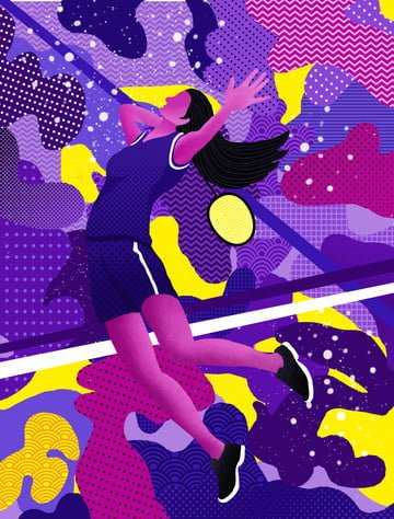 Wandering dream sport is playing tennis girl abstract illustration illustration image