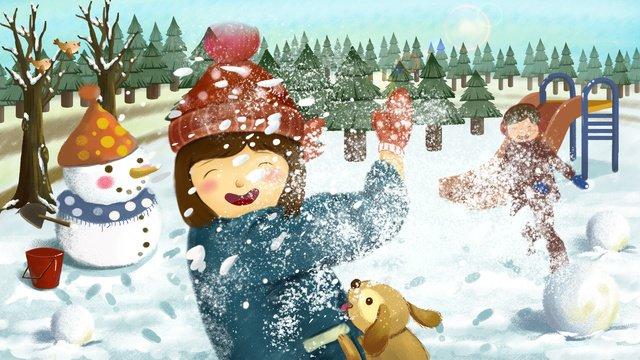 original illustration winter snowball texture realistic play llustration image illustration image