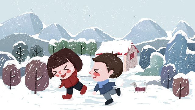 winter outdoor kids playing snowball illustration llustration image illustration image