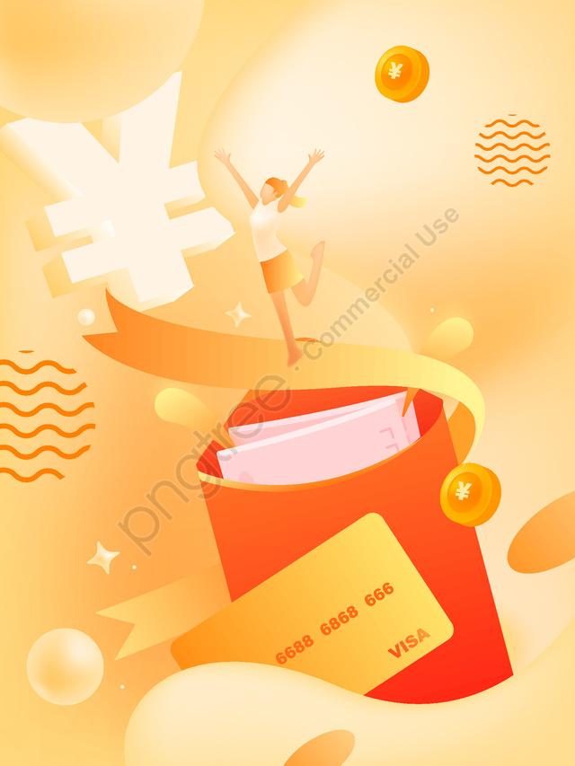 Fluid Gradient Brush I Drop Card Red Envelopes, Red Envelope, Swipe, Gold llustration image