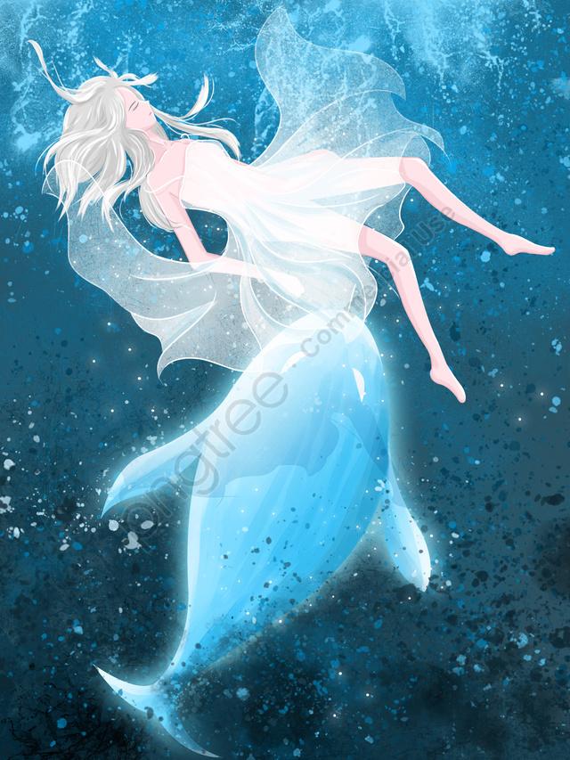 Apabila Sistem Penyembuhan Berwarna Biru Lihat Ikan Paus Yang Tenggelam Ke Laut Untuk Memenuhi Paus , Paus Apabila Laut Biru, Laut, Paus llustration image
