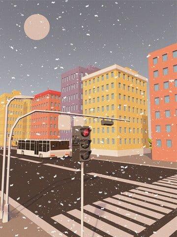 c4d здание зима стерео милый мультфильм сцена текстуры иллюстрации Ресурсы иллюстрации