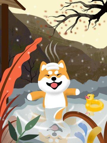 Уход за одинокой собакой akita spa иллюстрация Ресурсы иллюстрации Иллюстрация изображения