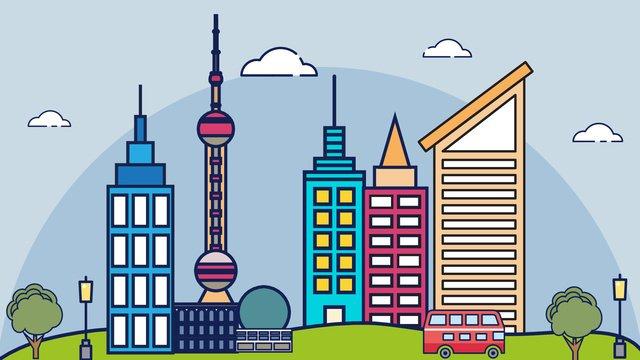 도시 로고 건물 벡터 일러스트 레이션 그림 이미지
