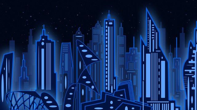 Minh họa ban đầu thành phố bóng đêmThành  Phố  Hình PNG Và PSD illustration image