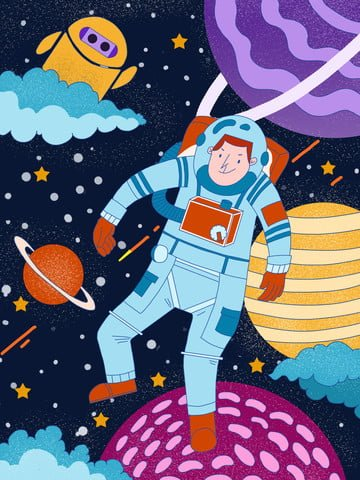 universe exploration planet astronaut alien llustration image