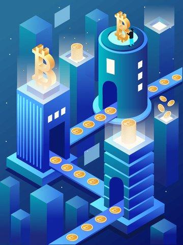 2 5m 금융 비트 코 통기성 삽화 소재