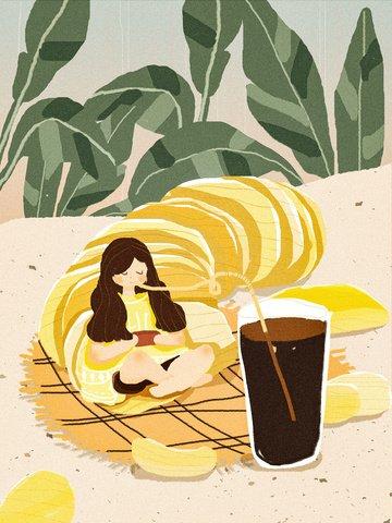 Счастливая толстая домашняя подушка с картофельными чипсами и колой Ресурсы иллюстрации