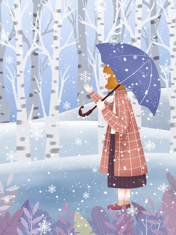 12 월 안녕하세요 눈송이 그림 삽화 이미지
