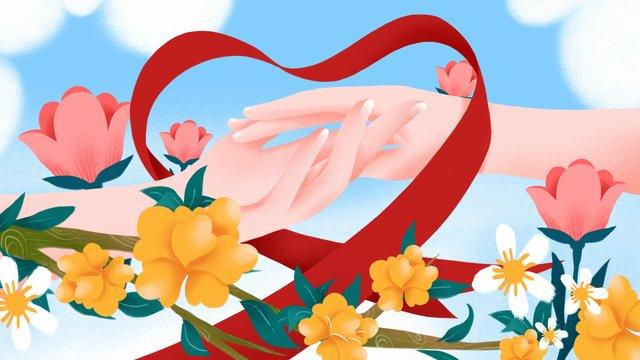ngày quốc tế aids Hình minh họa Hình minh họa