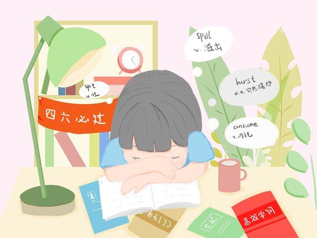 cenas de aprendizagem se preparam para a quarta sexta garotas sonolentas Material de ilustração