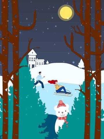 paper cut wind ski scene winter vector illustration llustration image