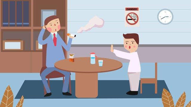 健康的な禁煙の日に有害な喫煙のイラスト喫煙をやめる  禁煙です  喫煙は健康に有害です PNGおよびPSD illustration image