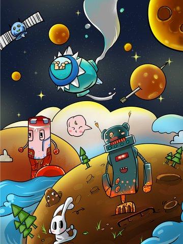 trên biển của robot trên sao hỏa Hình minh họa Hình minh họa