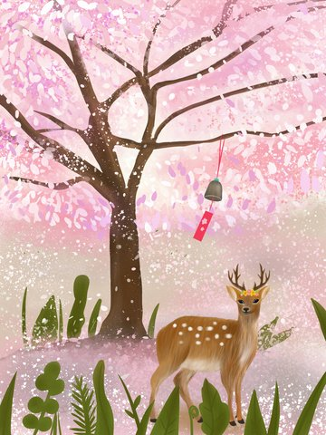 Lin shen sees the deer healing system illustration, See The Deer When Lin Shen, Beautiful, Dream illustration image