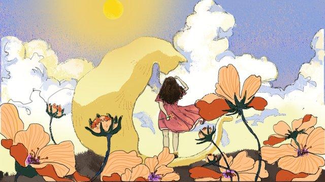Thumbelinaとmr  catの原稿 イラストレーション画像 イラスト画像