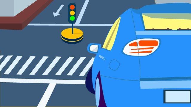 安全な旅行、文明化された交通 イラスト素材