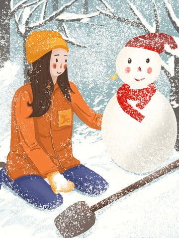 winter whispering snowman skiing beautiful illustration illustration image