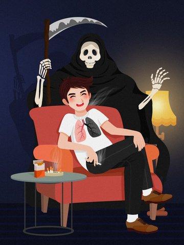 漫画喫煙有害な世界は喫煙日イラストをやめる イラスト素材