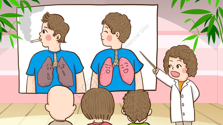 世界禁煙デー医師は喫煙の危険性について喫煙者に伝えます, 世界終了日, 喫煙日をやめる, 世界的な喫煙禁止 llustration image