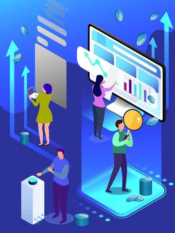 Голубая финансовая биткойн 2 5d дышащая векторная иллюстрация Ресурсы иллюстрации