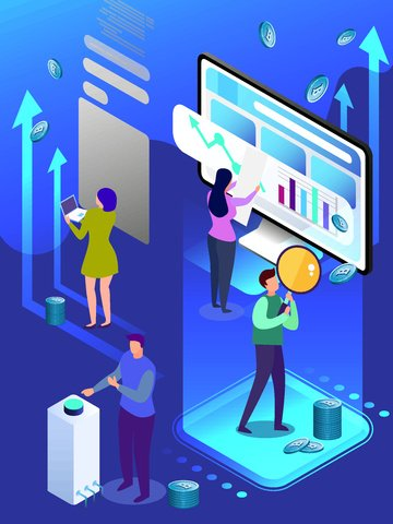 blue finance bitcoin 2 5d illustration vektor bernafas imej keterlaluan