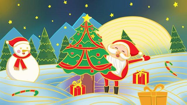 메리 크리스마스 ambilight 일러스트 레이션 삽화 소재 삽화 이미지